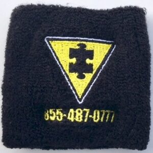 Autism FYI Terry Cloth Wrist Band Image